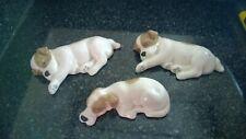 Vintage W R Midwinter Sleeping Puppies Ceramic Dogs Figures Set Of 3 Burslem