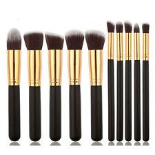 10Pcs Pro Make up Eyeshadow Blush Blending Set Cosmetic Concealer Lip Brushes SY