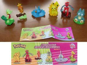 Set 6 Figurine Pokemon Cosmetiques Deoxys Pikachu Torchic Mudkip Rare TOMY