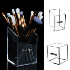 AM_ Clear Makeup Brush Holder Acrylic Case Organizer Container for Home Salon Fi
