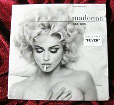 "MADONNA SEALED FEVER BAD GIRL 12"" SINGLE VINYL RECORD PROMO HYPE STICKER SEX LP"