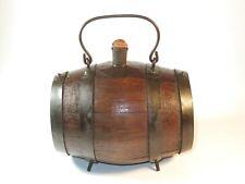 Nice 18Th Century Wood And Iron Powder Barrel With It'S Original Cork Plug