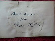 More details for max miller  - comedian -  autograph