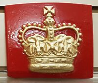 RED TELEPHONE BOX CAST OF THE ST EDWARD'S CROWN PLATE OFF A K6, BOOTH, KIOSK