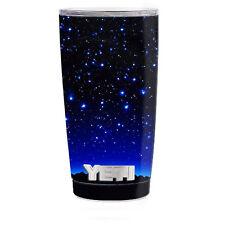 Skin Decal for Yeti 20 oz Rambler Tumbler Cup / Stars over glowing Sky