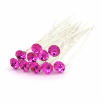 10/20pcs Bridal Wedding Prom Crystal Diamante Pearl Flower Hair Pins Clips Grips
