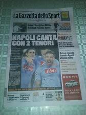 Gazzetta dello Sport 22/2/2012 NAPOLI-CHELSEA 3-1 CHAMPIONS LEAGUE NAPOLI CANTA