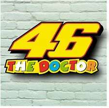 Valentino Rossi 46 The Doctor 2 Pies 5mm Sign Pared Placa Moto Gp PAC T Shirt Bicicleta