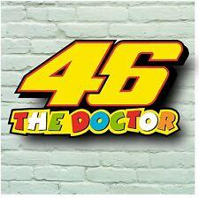 VALENTINO ROSSI 46 il medico 2ft 5mm SIGN TARGA sul muro moto gp berretto T SHIRT BICI