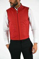£695 CORNELIANI ID NWTS LEATHER Quilted Vest Jacket Size 36 UK 46 Slight Padded