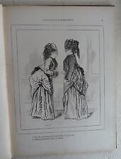 L'Esprit des Femmes Albert Grevin French c1880 Caricatures Paris Fashion Society