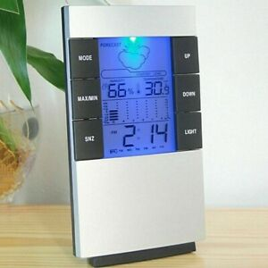 LCD Humidity Temperature Meter Hygrometer Room Indoor Thermometer Clock UK