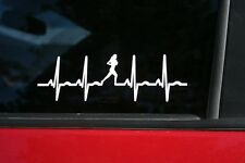 Girl Runner Heartbeat Die-Cut Sticker, Buy 2 Get 1 FREE of the same item!
