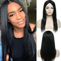 Deluxe Silky Straight Brazilian Remy Human Hair Wig Real Full Wig 130% Density C