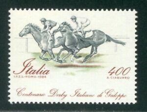 1984 Repubblica Derby in basso 400 lire nuovo cert. Diena ** MNH 90 noti
