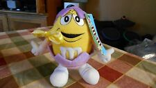 "Plush 8"" Galerie Brand Yellow M&M in egg costume w partial tag"