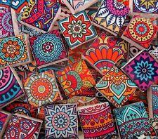 Ceramic Mosaic Tiles - Moroccan Boho Tile Medallions Mosaic Tile Bright Colors