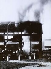 Bessemer Converter in Action, Steel Plant, Magic Lantern Glass Photo Slide