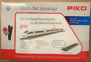 "Piko 71914- HO - Start-Set mit Bettungsgleis ICE 3 ""Klimaschützer"", DB AG,  neu"