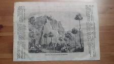 1873 Illustrazione Popolare/Vista Gualecchio Rocca del Marchesato di Pallavicino