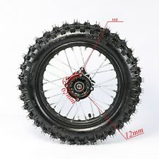"""80/100 - 12"""" Inch Rear Back Wheel Rim Tyre Tire Disc Brake Dirt Pit Trail Bike"""