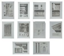 "(10) 1890s Ancient Rome Lg Format Classical Architecture Heliogravure Prints 16"""