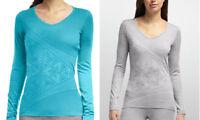 ICEBREAKER 100% Merino Wool Women's Oasis Graphic Sherpinsky Triangle Shirt -NEW