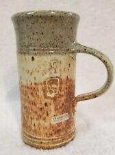 Tamarack House Galleries Art Pottery Mug Tall Thin Neutrals Imprints