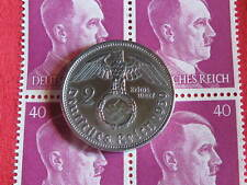 Old German NAZI WAR COIN 1939WWII w/Sw. +BLOCK STAMPS