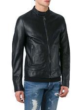 ★Giacca Giubbotto Uomo in di PELLE 100% Men Leather Jacket Veste Homme Cuir Y93
