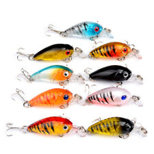 9 Lures Bass chub perch Small Crank Bait fishing Tackle 4.5cm/4g  UK Seller