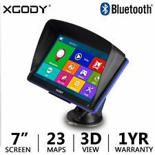 "XGODY 886 7"" GPS Navigation Bluetooth Sat Navi Truck Car GPS Navigator CA Map"