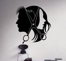 Hair Salon Barber Shop Wall Decal Art Vinyl Sticker Window Decor Salon Wallpaper