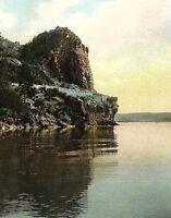 C.1910 Cave Rock On Lake Tahoe, Road of a Thousand Wonders, CA Postcard P128