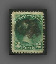 CANADA, SCOTT #36  1872 - 2c, QUEEN VICTORIA, FINE USED (2,5 x 2,0 cm)