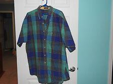 Arrow button down twill shirt for men.  XL. shades of blues/greens