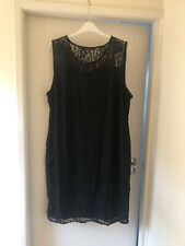 So Fabulous Black Lace Midi Dress Plus Size 28