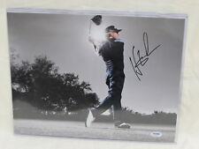 Hunter Mahan PGA Tour Autographed 11x14 Color Photo PSA/DNA