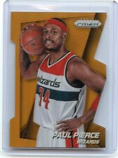 "2014-15 PRIZM #140 PAUL PIERCE ""ORANGE DIE-CUT"" SP #8/139, WASHINGTON WIZARDS"