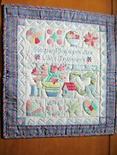 """""""Hand Made by Sarah""""Quilted Wall Hanging """"Simple Pleasures are Life's Treasures"""""""