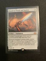 1X Sword of Truth and Justice MYTHIC RARE Artifact X1 Modern Horizons MTG
