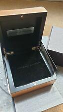 OFFICINE PANERAI DOUBLE PEARWOOD BOX WITH BLACK CARDBOARD BOX OUTER