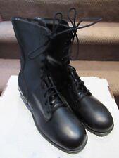 PAIR US ARMY BLACK COMBAT BOOTS MEN'S SZ 9.5 REGULAR MARINES ROTHCO OCT 1979 VGC