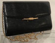 RODO Purse👜Black Snakeskin/Reptile Pattern Leather Crossbody Handbag/Clutch EUC