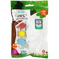 OWL WINDSOCK Paint Your Own Nylon Kite Garden Festival Camping Wind Sock NEW UK