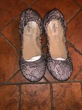 valentino shoes 38 Ballet Shoes Black And Beige Lace