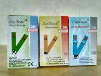 EasyTouch Test Strips for Blood Glucose, Cholesterol, Uric Acid & Hemoglobin