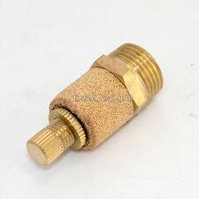 Pneumatic Muffler Silencer Filter Flow Speed Controller Sintered Bronze NPT 3/8
