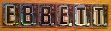 (HCW) 2008-09 UD Black ANDREW EBBETT Lettermen Nameplate RC Complete Set