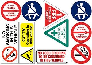 10 Assorted stickers taxis coaches minibuses Free 1st class P&P